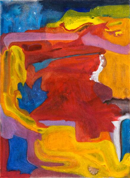 Gilgian Gelzer - Streaming : Gilgian Gelzer, sans titre, 2010, acrylique et crayons de couleur sur carton entoilé, 22 x 16 cm,  courtesy galerie Jean Fournier, crédit photographique Laurent Ardhuin