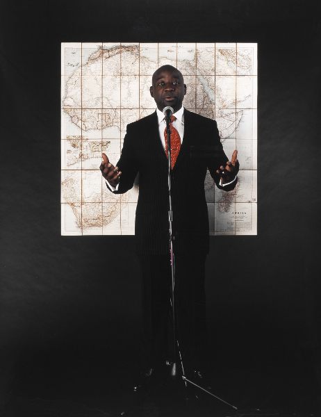 Barthélémy Toguo. Neighbours : Stupid African President 1, 2006, photographie – 130 x 170 cm – Courtesy Galerie Lelong & Bandjoun Station