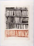 15e biennale internationale de la gravure à Sarcelles : Gérard Titus-Carmel - Bibliothèque d'URCE II. Eau-forte. 99 x 72 cm. © Jean-Yves Lacôte