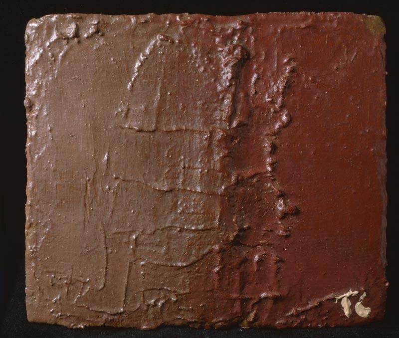 Tal Coat : Sans titre, 1979, huile sur panneau, 19 x 22 cm
