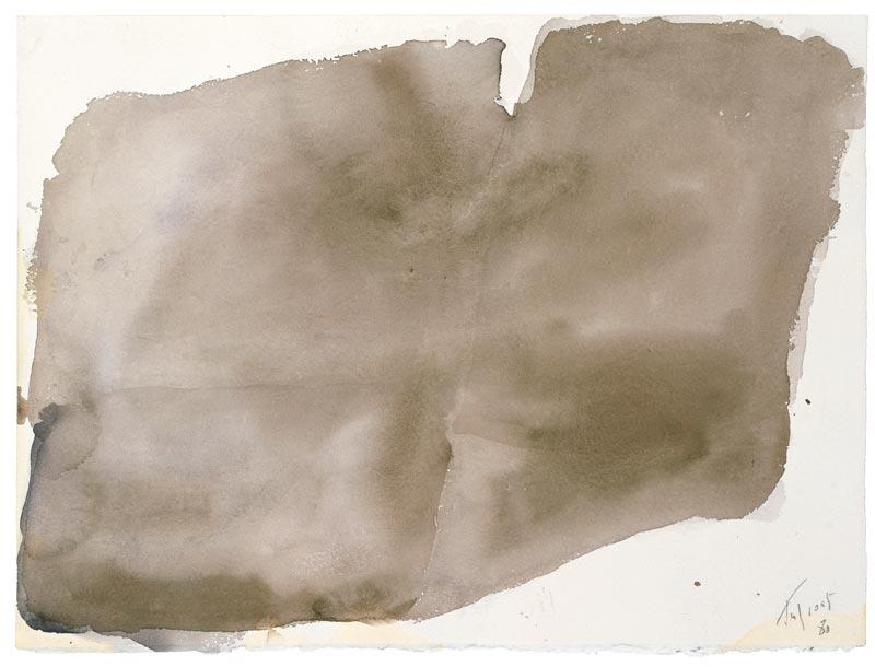 Tal Coat : Sans titre, 1980, aquarelle sur papier, 32 x 40 cm