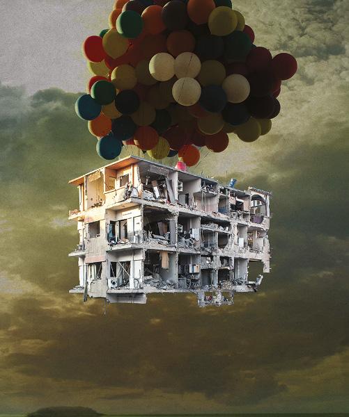 Et pourtant, ils créent! (Syrie, la foi dans l'art) : Tammam Azzam. Bon Voyage. 2013, impression archive  sur papier coton, 112 x 93 cm © Les artistes Apparaissent avec l'aimable autorisation de la galerie Ayyam, Beyrouth/Damas/Dubai/Londres/Jeddah