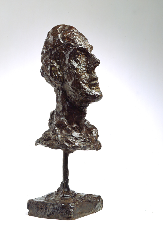 Giacometti et Maeght, 1946 – 1966. : Diego [tête au col roulé], vers 1954, © Archives Fondation Maeght, C.Germain, © Succession Giacometti, Adagp Paris 2010