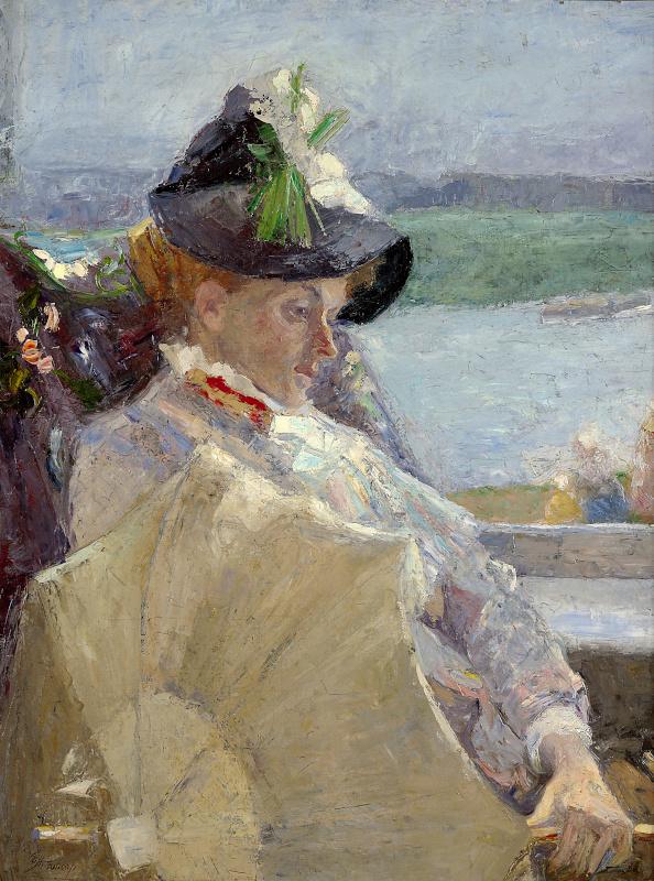 Ensor, Magritte, Alechinsky… Chefs-d'œuvre du Musée d'Ixelles : Jan Toorop Dame à l'ombrelle, 1888 Huile sur toile Photo © Musée d'Ixelles