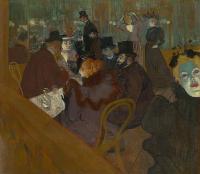 Toulouse-Lautrec. Résolument moderne : Henri de Toulouse-Lautrec Au Moulin Rouge 1892-1895 huile sur toile 123 x 141 cm Chicago, The Art Institute of Chicago © Art Institute of Chicago, Dist. RMN-Grand Palais / image The Art Institute of Chicago