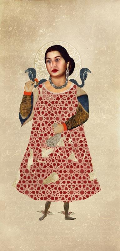 Traits d'Union - Paris et l'art contemporain arabe : Nermine Hammam, Worrier women, 2011 Techniques mixtes, 205 x 99 cm
