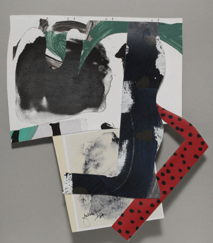 Jean Gaudaire-Thor - Parc Montjuïc : Jean Gaudaire-Thor, Travessera de Gràcia, 2009, Technique mixte sur papie,r 36 x 35 cm