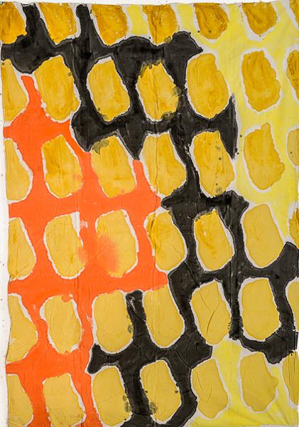 Parallèles : Claude Viallat, N° 269b, 2012, 290x200 cm