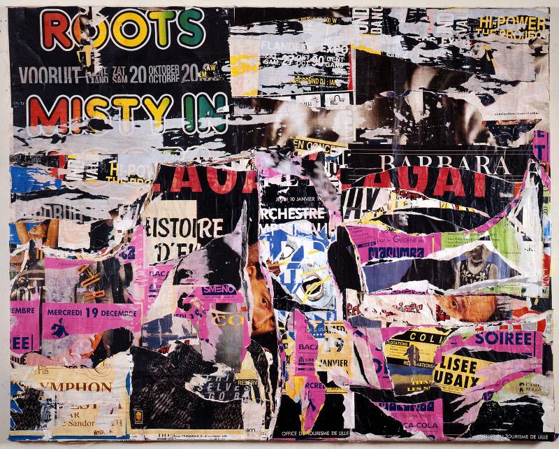 Jacques Villeglé : Jacques Villeglé, Boulevard de la Marne, Lille, 27 janvier 1991, 170 x 215 cm. Crédit photographique François Poivret
