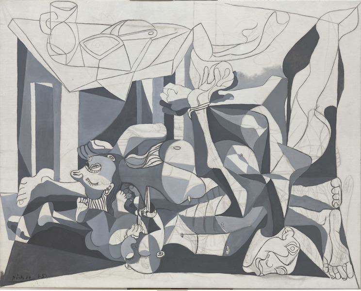 Le Massacre des innocents, Poussin, Picasso, Bacon : Pablo Picasso The Charnel House 1945 Huile et fusain sur toile 199.8 x 250.1 cm © 2016 Digital Image, The Museum of Modern Art, New York/ Scala, Florence – Succession Picasso 2017