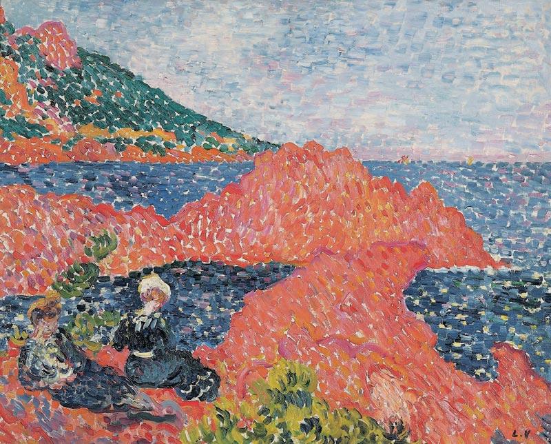 Louis Valtat, à l'aube du fauvisme : Louis Valtat, Les roches rouges à Agay, 1903, Collection Fondation Regards de Provence, ©ADAGP Paris 2011