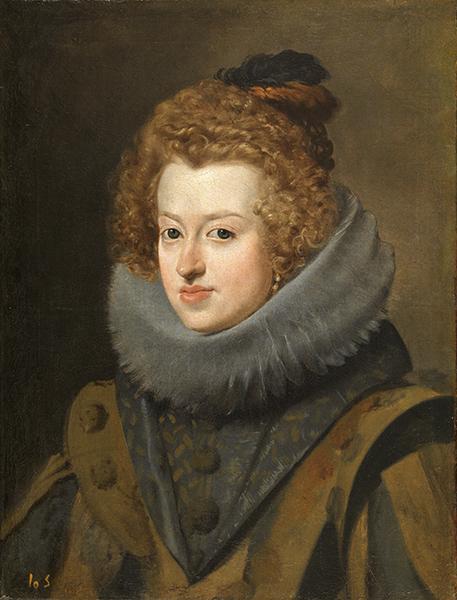 Le Portrait espagnol dans les collections du Prado. : Diego Velázquez - Marie d'Autriche, reine de Hongrie (v. 1628-1630) Huile sur toile, 59,5 x 44,5 cm. Musée national du Prado, Madrid