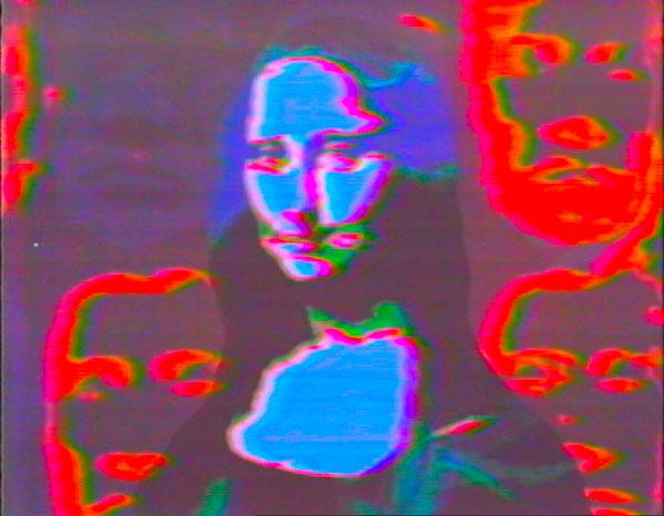 Vidéo Vintage : Toshio Matsumoto, Mona Lisa, 1973, Coul., son, 3 min. Coll Mnam/Cci, Centre Pompidou
