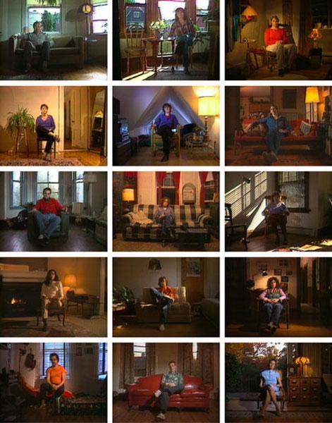 Vidéo Vintage : Bill Viola, Reverse Television - Portraits of Viewers, Compilation Tape, 1983-1984, Coul., son, 15 min. Production WGBH, Boston Coll Mnam/Cci, Centre Pompidou