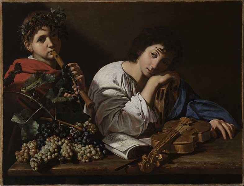 Caravage à Rome. Amis et ennemis : Bartolomeo Cavarozzi, La Douleur d'Aminte, vers 1605-1610, huile sur toile, 82,5 x 106,5 cm Collection particulière, courtesy Marco Voena