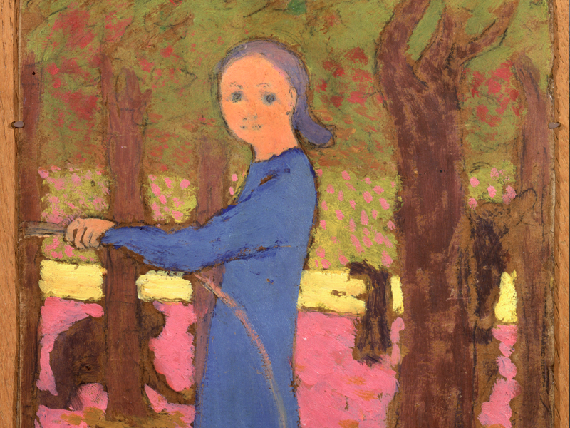 Côté jardin. De Monet à Bonnard : Édouard Vuillard (1868-1940) Fillette au cerceau, vers 1891 Huile sur carton, 21,5 x 17,5 cm Collection particulière