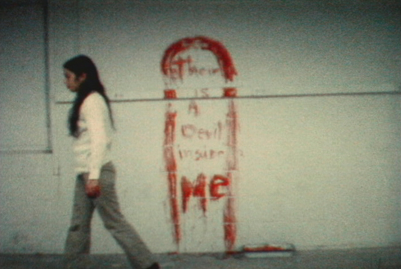 Ana Mendieta, Blood and Fire : Ana Mendieta Untitled (Blood Sign #1), 1974 Super-8 color, silent film transferred to DVD Running time : 4 minutes, 40 seconds Edition of 6 # W16193 Credits : © The Estate of Ana Mendieta Collection / Courtesy Galerie Lelong