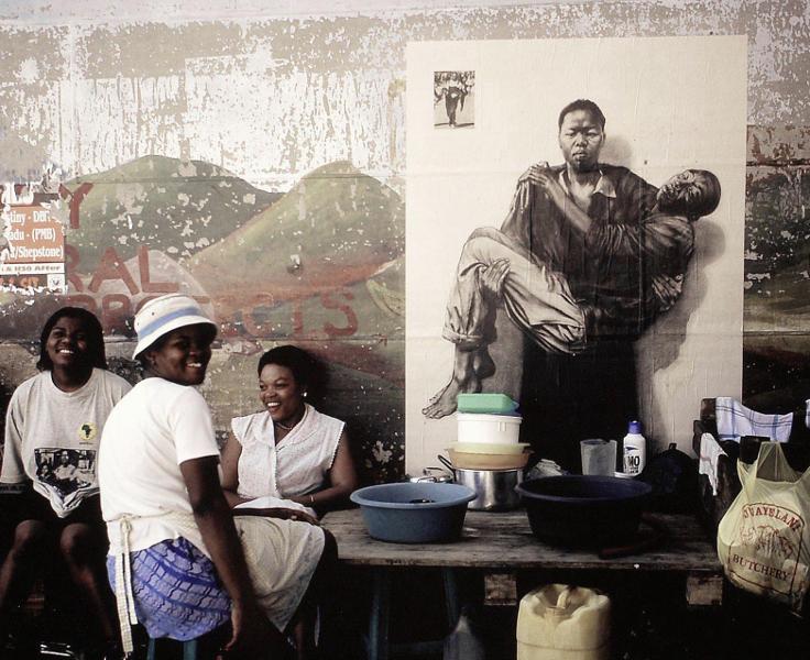 Ernest Pignon-Ernest : Warwick (Durban), 2002, photographie, 60x80 cm © Ernest Pignon-Ernest