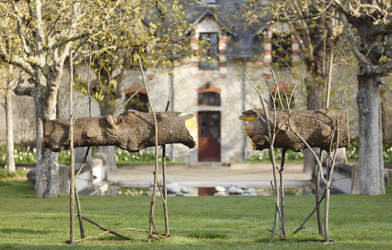 Saison d'Art 2020 : Giuseppe Penone Tra... 2008-2020 bronze feuilles d'or  Installation au domaine de Chaumont-sur-Loire 2020
