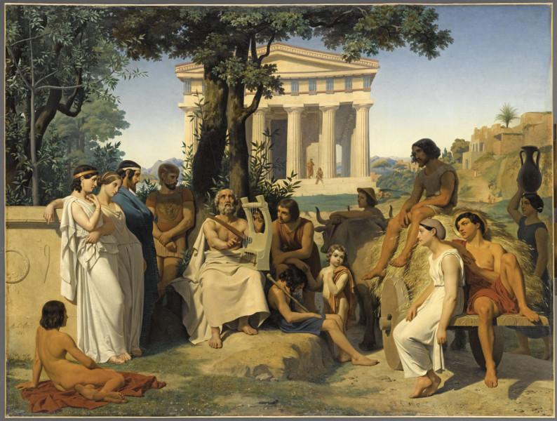 Homère : Jean-Baptiste Auguste Leloir. Homère. 1841 © RMN-Grand Palais (musée du Louvre) / Franck Raux