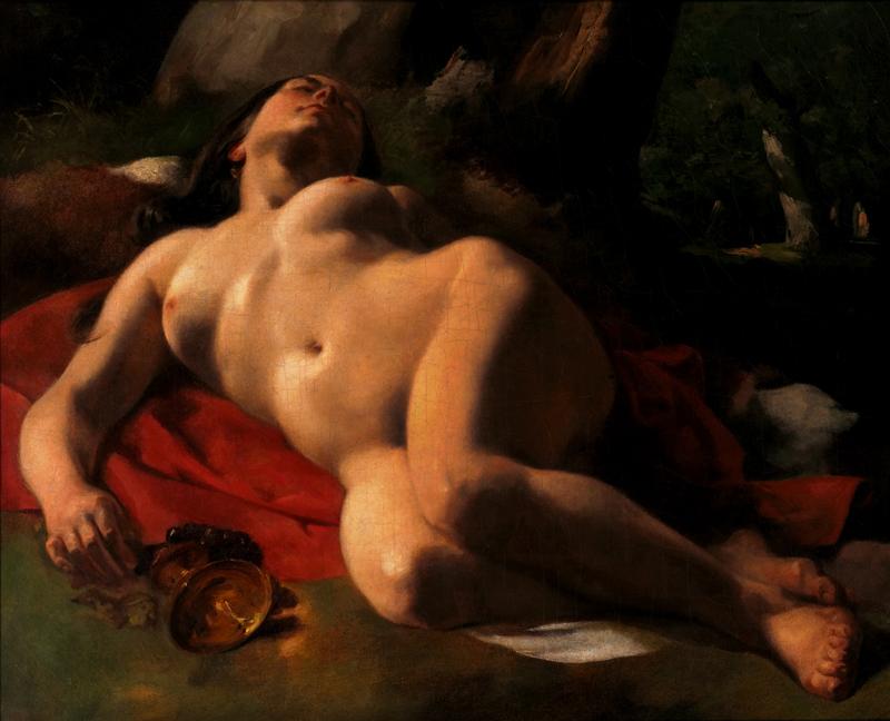 Courbet-Clésinger, œuvres croisées : Gustave Courbet. La Bacchante.  © Fondation Rau pour l'UNICEF