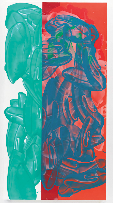 Noël Dolla : entrée libre mais non obligatoire : David Reed. #602-2., Noël Dolla, 2007-2011, huile, résine sur polystyrène, 274 x 142 cm © EMG Collection, France