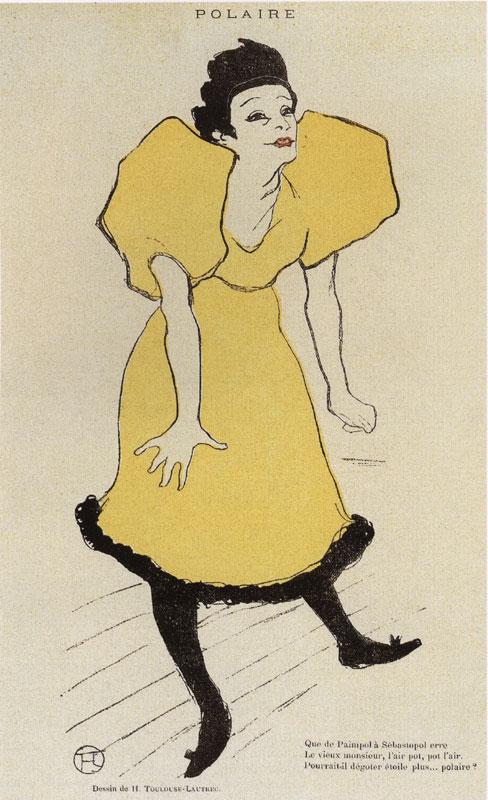 Daumier, Steinlen, Toulouse-Lautrec - La Vie au quotidien : Toulouse-Lautrec. Polaire in Le Rire, n° 16, 26 fev 1895. Revue, 29 x 21 cm. collection Raymond Bachollet.