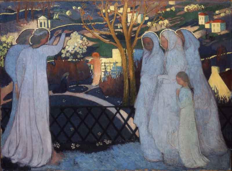 De la nature symbolique aux jardins virtuels : Maurice Denis, Saintes Femmes au tombeau, 1894 © ADAGP, Paris 2010