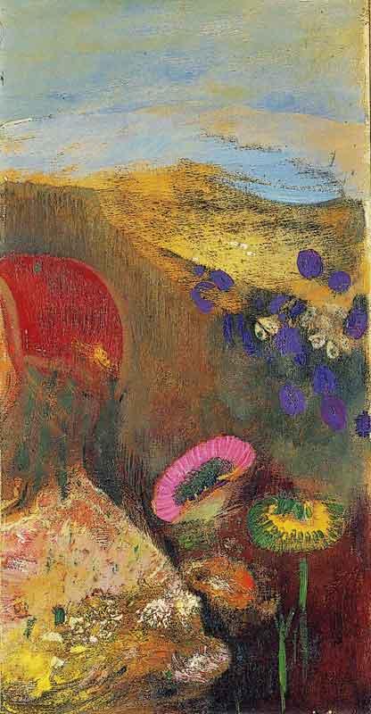 De la nature symbolique aux jardins virtuels : Odilon Redon, Fleurs étranges, vers 1910