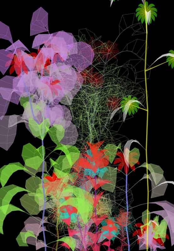 De la nature symbolique aux jardins virtuels : Miguel Chevalier, Sur-natures 2010, 2010