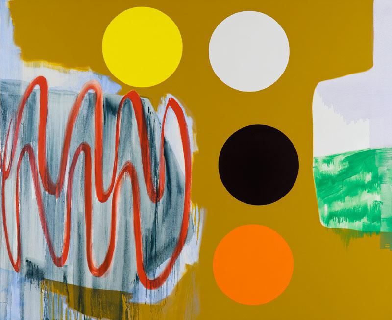 Claude Tétot – Peintures récentes : sans titre. 2010, huile sur toile, 180x 220 cm. © Laurent Ardhuin. Courtesy galerie Jean Fournier.