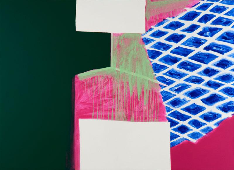 Claude Tétot – Peintures récentes : sans titre. 2010, huile sur toile, 160 x 220 cm. © Laurent Ardhuin. Courtesy galerie Jean Fournier.