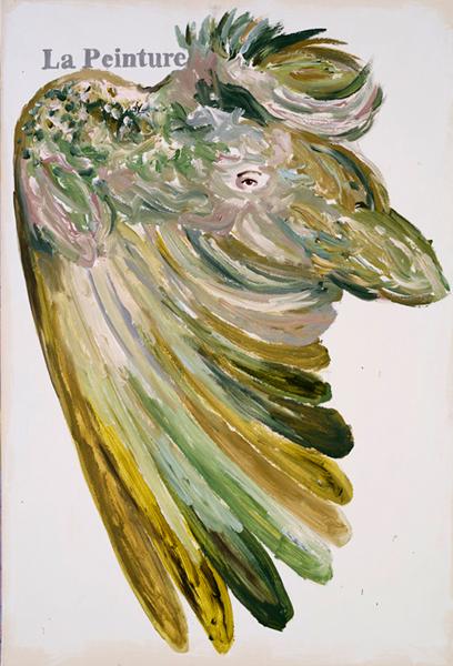 Agnès Thurnauer - Manifestement : Peinture n°8. 2011, acrylique sur papier marouflé, 121 x 81 cm.