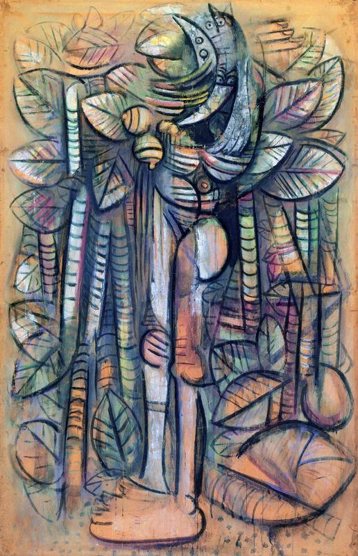 Aimé Césaire, Lam, Picasso - « Nous nous sommes trouvés » : Wifredo Lam Lumière de la forêt 1942 gouache sur papier marouflé 192 x 123,5 cm Centre Pompidou-Musée national d'Art moderne/Centre de création industrielle, Paris © ADAGP, Paris 2011 © Centre Pompidou, Mnam-Cci, Paris Dist Rmn-Grand Palais