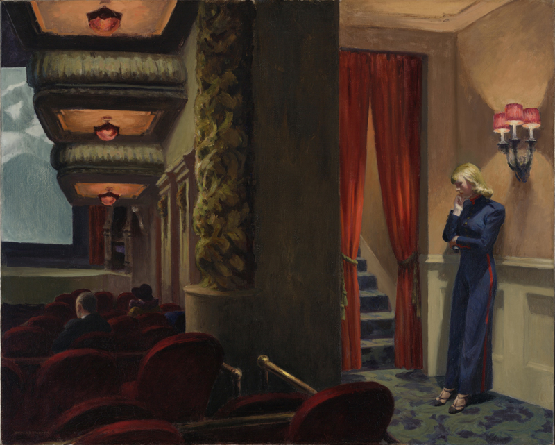 La Peinture américaine des années 1930 : Edward Hopper (1882-1967) New York Movie (Cinéma à New York), 1939 Huile sur toile 81.9 x 101.9 cm New York, Museum of Modern Art (MoMA) Given anonymously. Acc. n.: 396.1941. © 2016. Digital image, The Museum of Modern Art, New York/Scala, Florence