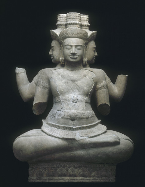 Angkor : Naissance d'un mythe - Louis Delaporte et le Cambodge : Brahma Environs de Vat Baset Don Fustier au musée indochinois du Trocadéro, 1888 Deuxième quart du Xe siècle H. 147 - L. 97 - P. 83 cm - Grès. © D.R.