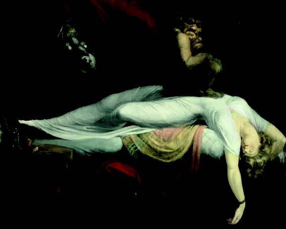 L'Antiquité rêvée : Johann Heinrich Füssli. Le cauchemar. 1782, huile sur toile, 101 x 126 cm. Institute of Arts, Detroit