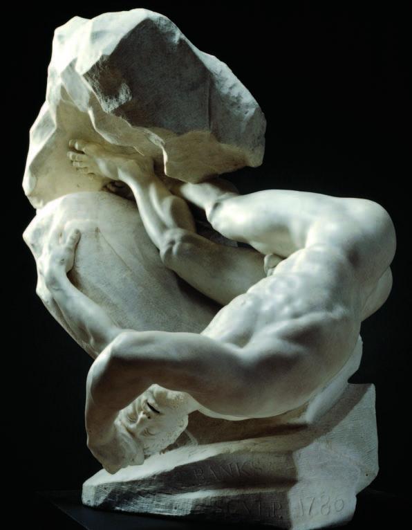 L'Antiquité rêvée : Thomas Banks. Titan foudroyé. 1786, marbre, 84 x 90 x 58 cm. Royal Academy of Arts, London.