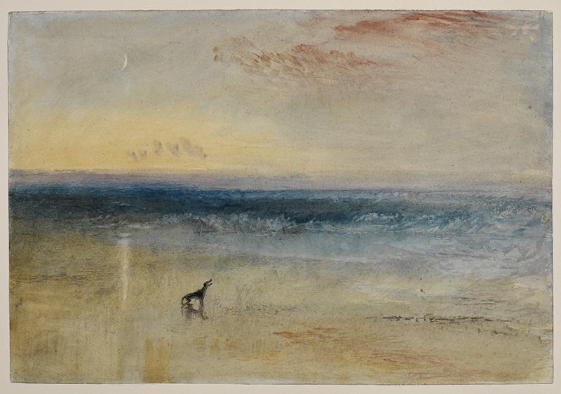 La Collection Courtauld. Le parti de l'Impressionnisme : Joseph Mallord William Turner. Dawn after the Wreck, 1841 Aquarelle 36,8 x 25,1 cm © The Courtauld Gallery, London