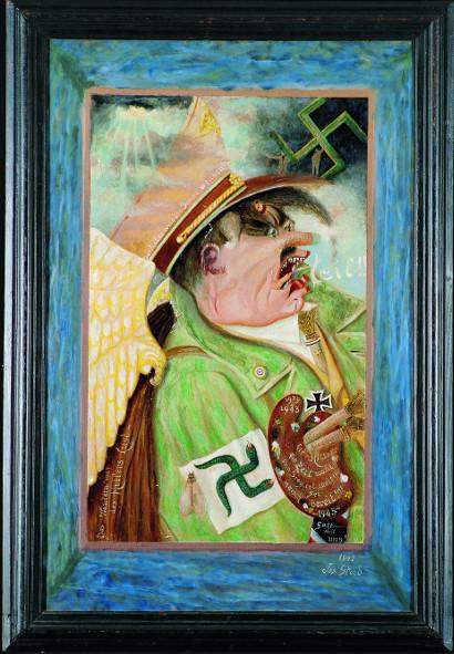 L'Art en guerre - France 1938-1947  - De Picasso à Dubuffet. : Joseph Steib La Conquérant, 1942 Huile sur carton Collection particulière, Strasbourg © Joseph Steib