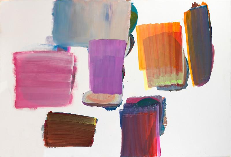 Avec elles, pour finir en beauté : Fabienne Gaston-Dreyfus, Sans titre, 2014, vinylique sur toile, 130 x 195 cm