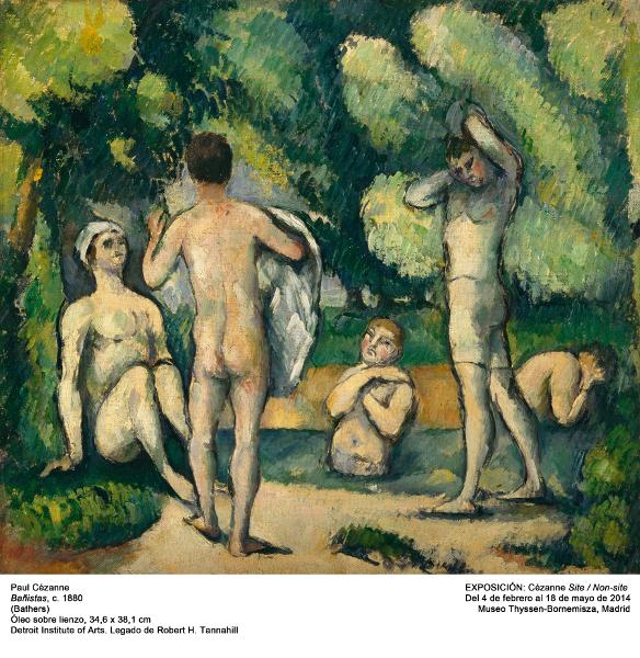 Site/ Non site – Paul Cézanne : Bathers, ca.1880.  Detroit Institute of Arts Bequest of Robert H. Tannahill