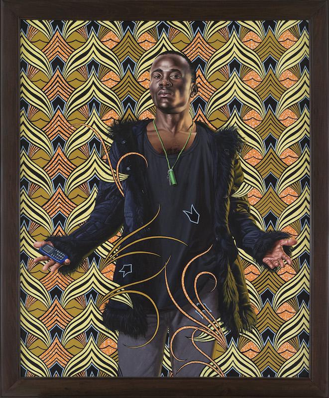 Kehinde Wiley. Peintre de l'épopée : Bonaparte in the great Mosque of Cairo 2012 huile sur toile 178,5 x 148 cm. Photo : Bertrand Huet © Courtesy Templon,Paris-Brussels