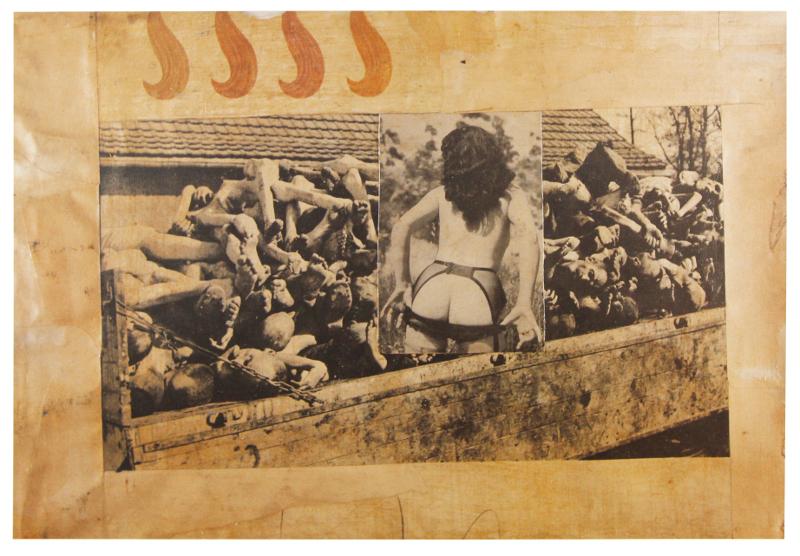 Boris Lurie.NO!art : Boris Lurie Railroad to America, 1963 Collage mounted on canvas, 37 x 54 cm