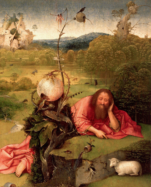 Fables du paysage flamand : Bosch, Brueghel, Bles, Bril : 1. la multiplication des pains, Jérôme Bosch, Madrid, Musée Lazaro Galdiano