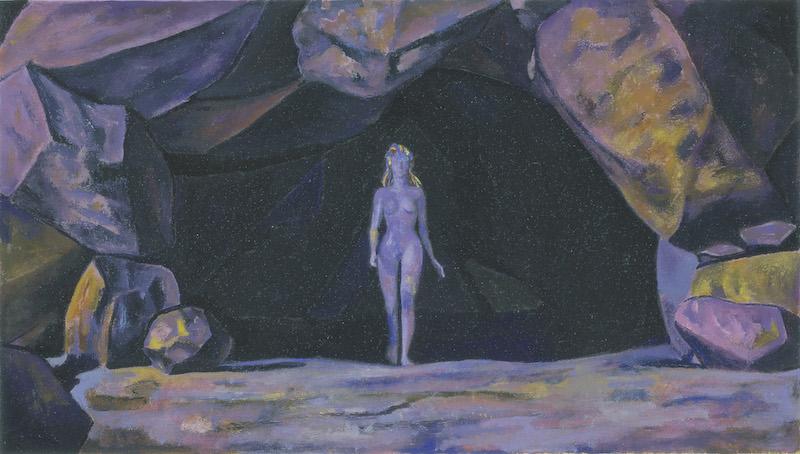 Brigitte Moreau Serre - Ses mains s'ouvrent sur une étoile : Arbre de Vie, 2018, huile sur toile, 179 x 219 cm. ©Marina Gusina