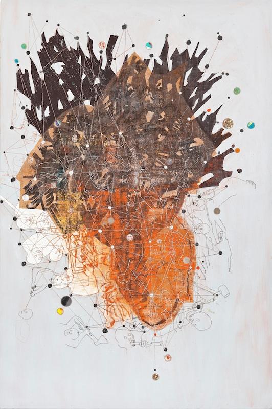 Pierre-Yves et Tatiana Bohm : Pierre-Yves Bohm, Sans titre, 2011, 195 x 130 cm.