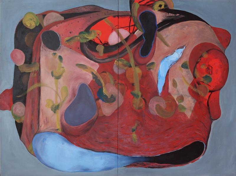 Jörg Langhans – État des lieux : Dermis Dom, Métamorphose, 2000, 1,95 x 2,60 m.