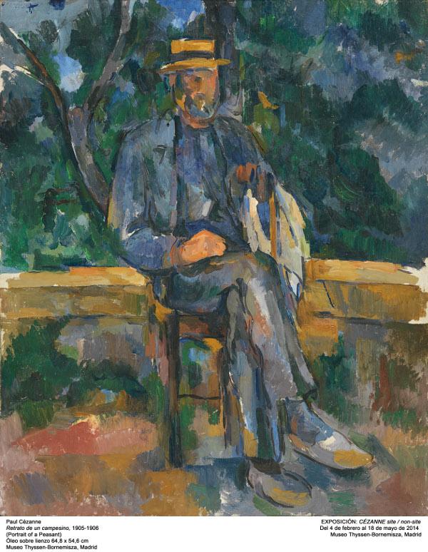 Site/ Non site – Paul Cézanne : Portrait of a Peasant, 1905-1906.   Museo Thyssen-Bornemisza