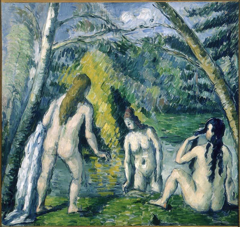 Révélations : Une odyssée numérique dans la peinture. : Paul Cézanne, Trois baigneuses, © Petit Palais Roger Viollet